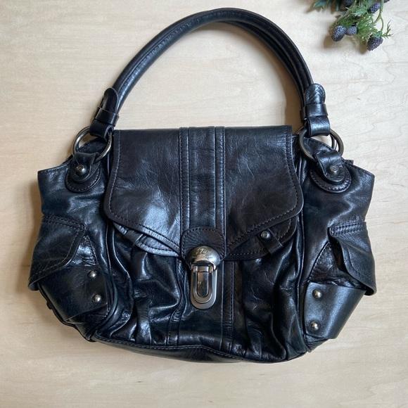 Francesco Biasia shoulder hobo purse leather